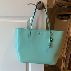 Kate Spade leather bag in Tiffany blue